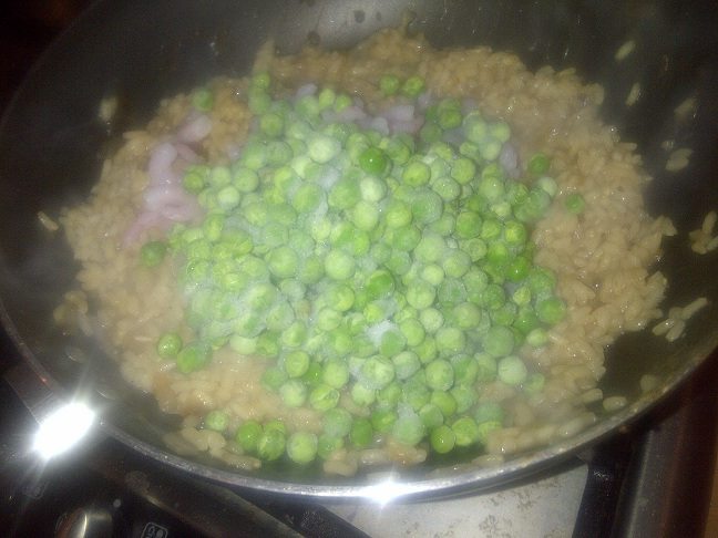 I think I may have over done it with the peas...