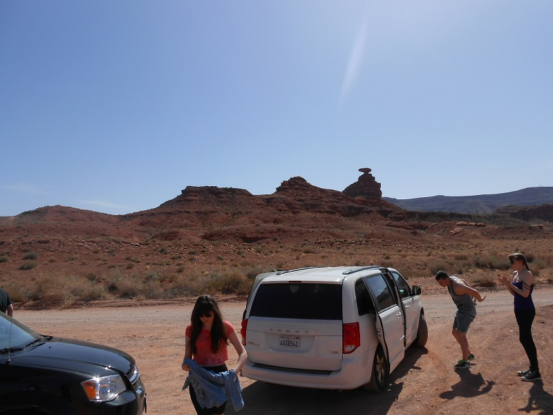 Posing in Monument Valley