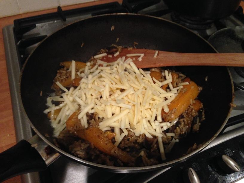 Cheesy Mushroom Rice